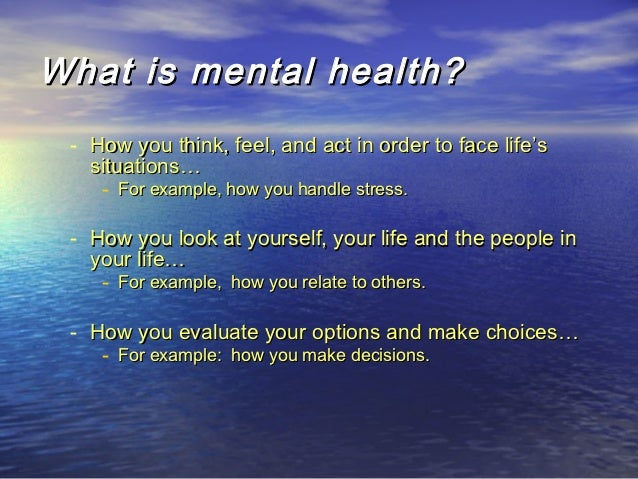 mental wellbeing and mental health essay Building better mental health when you improve your physical health, you'll automatically experience greater mental and emotional well-being.