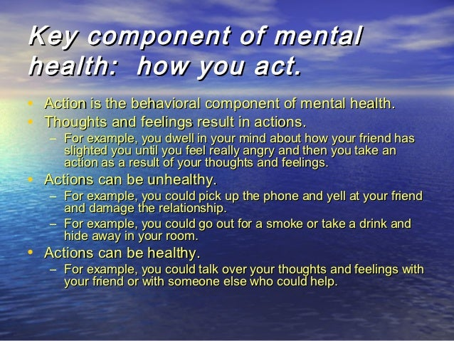 5 signs of good mental health