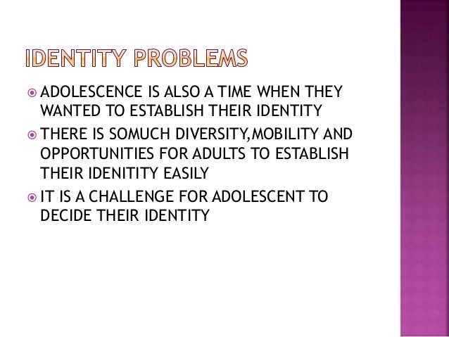 the causes of identity formation problems in adolescent adoptees Causes of problems in adoptees identity development in adopted 3 comments on known consequences of separating mother and child at birth implications for.