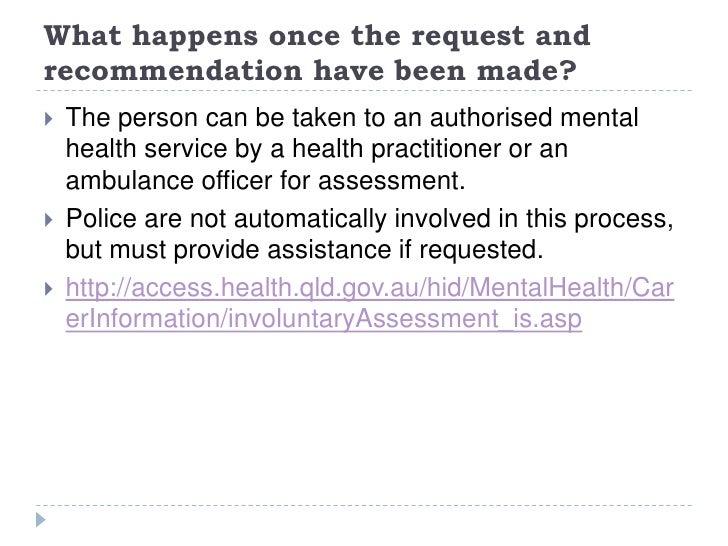 Mental Health Risk Assessment