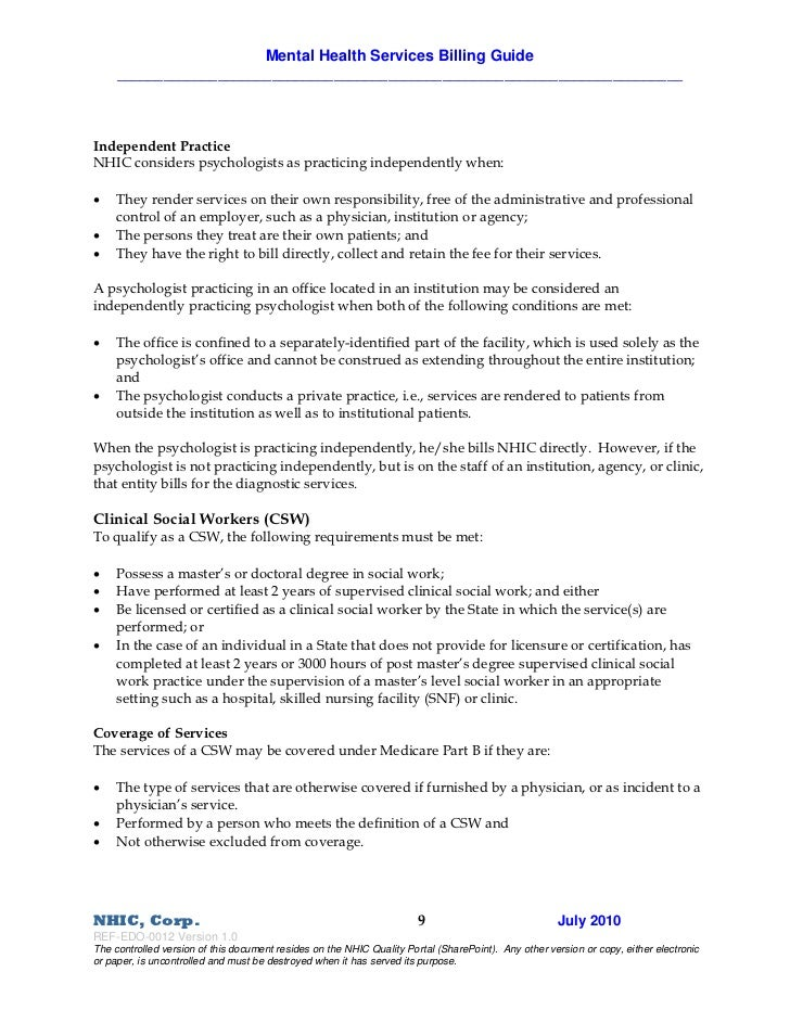 Mental Health Services Guide
