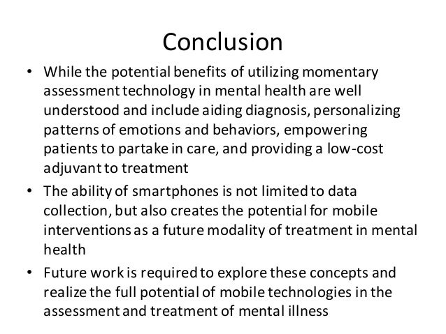 • While the potential benefits of utilizingmomentary assessmenttechnology in mental health are well understood and include...
