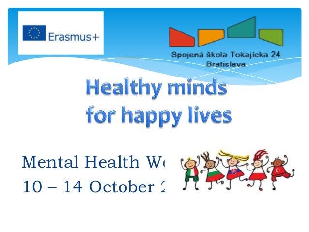 Mental Health Week 10 14 October 2016