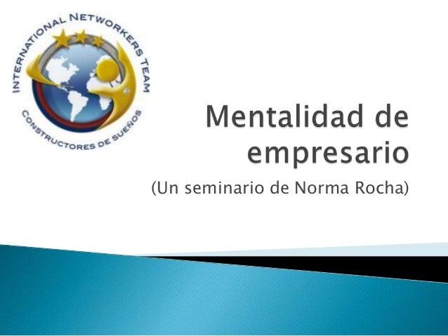 (Un seminario de Norma Rocha)
