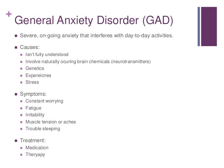 Anxiety Disorder Hookup With Someone Generalized