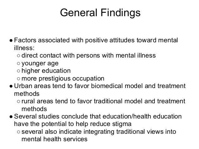 Mental Illness Stigma Ppt Slides Cultural Info