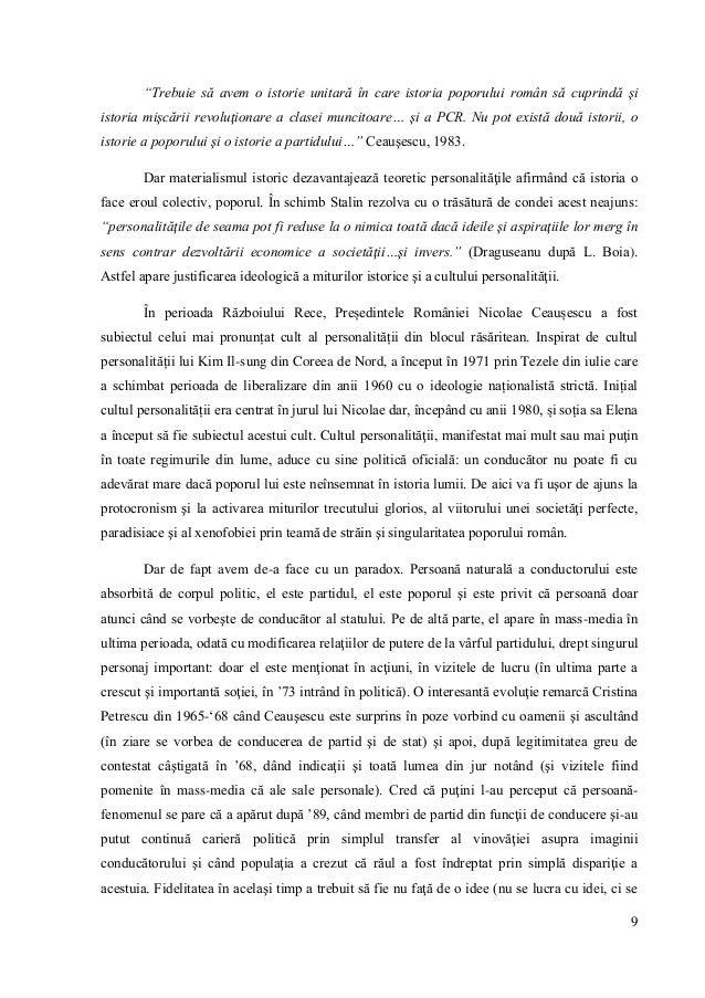 """9 """"Trebuie să avem o istorie unitară în care istoria poporului român să cuprindă şi istoria mişcării revoluţionare a clase..."""