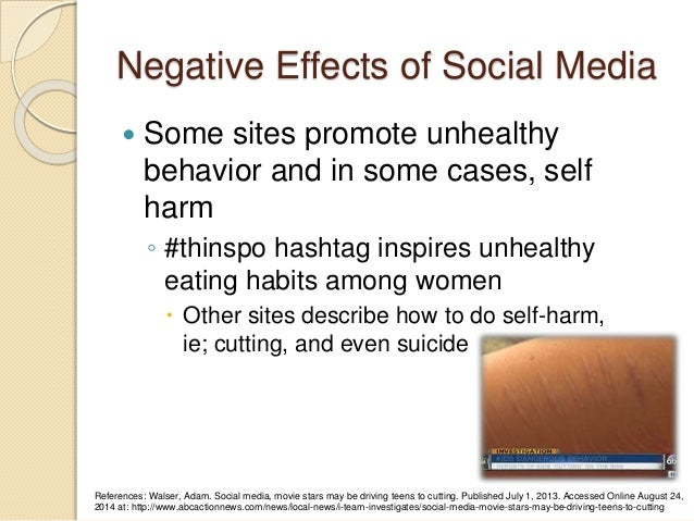 self harm and social networking sites How much is adolescent self-harm affected by contagion effects and other peer influences social networking sites and online news in exacerbating trends.