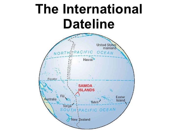 Where Is The International Date Line On The Map