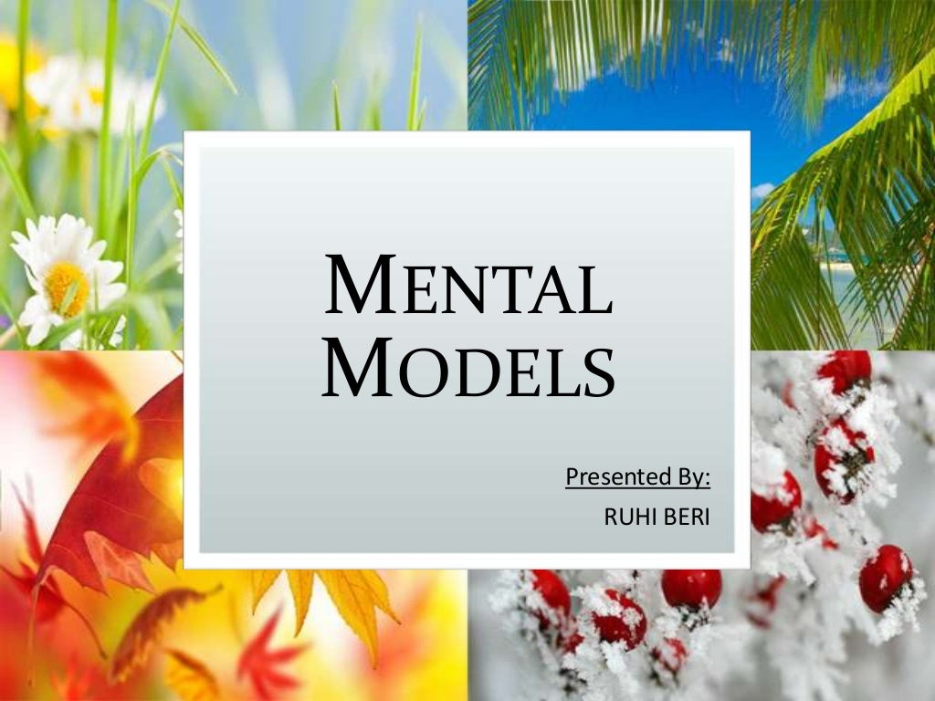 Mental models (The Fifth Discipline)