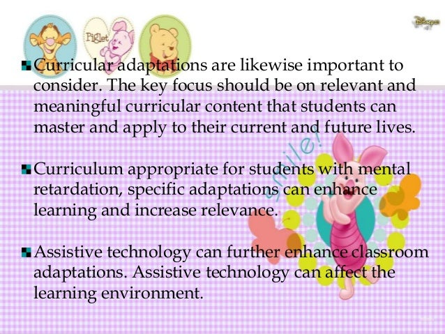 Typical and Modified Curriculum Outcomes for Students with Mental Retardation Grade Level  Typical Outcomes  Modified Outc...