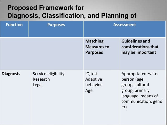 Function  Purposes  Assessment  Matching Measures to Guidelines and Purposes considerations that may be important Classifi...