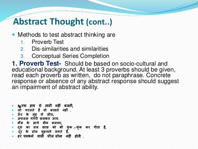 mental state examination abstract thinking  insight and
