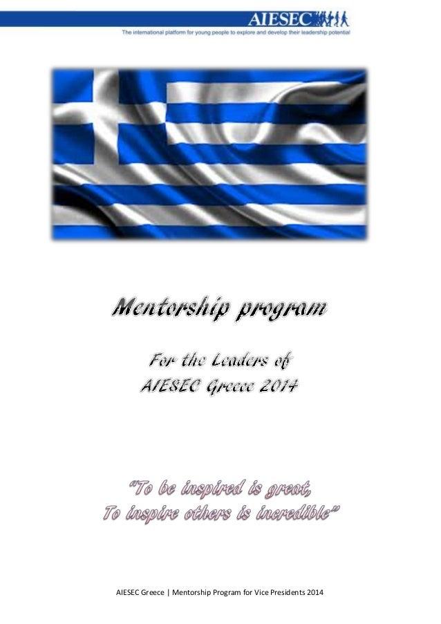 AIESEC Greece   Mentorship Program for Vice Presidents 2014