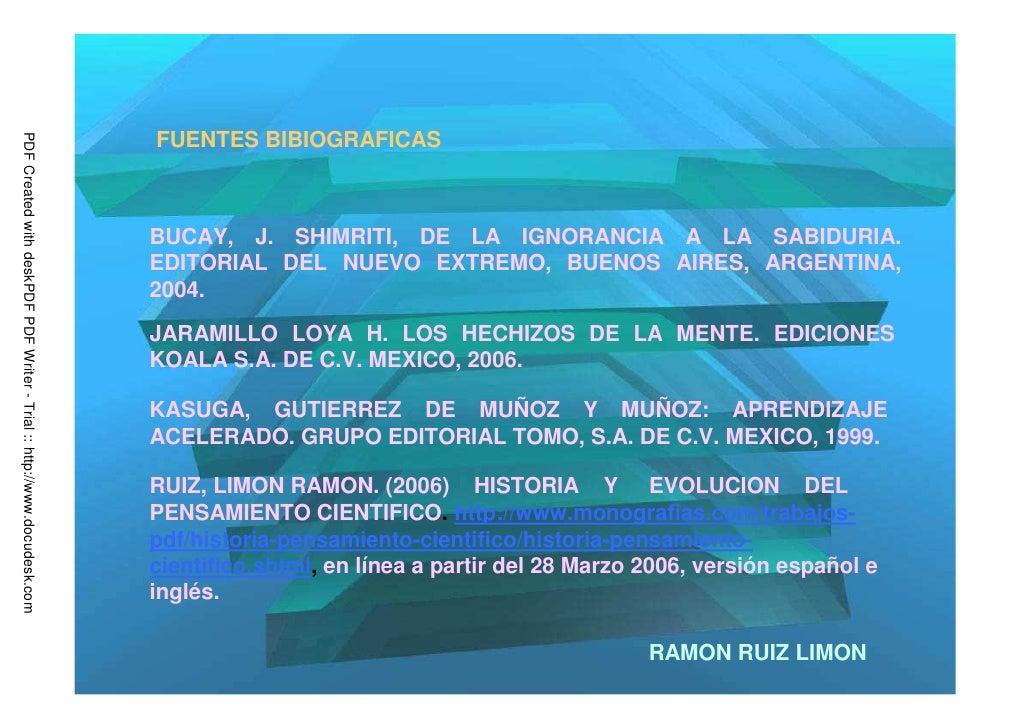 FUENTES BIBIOGRAFICASPDF Created with deskPDF PDF Writer - Trial :: http://www.docudesk.com                               ...
