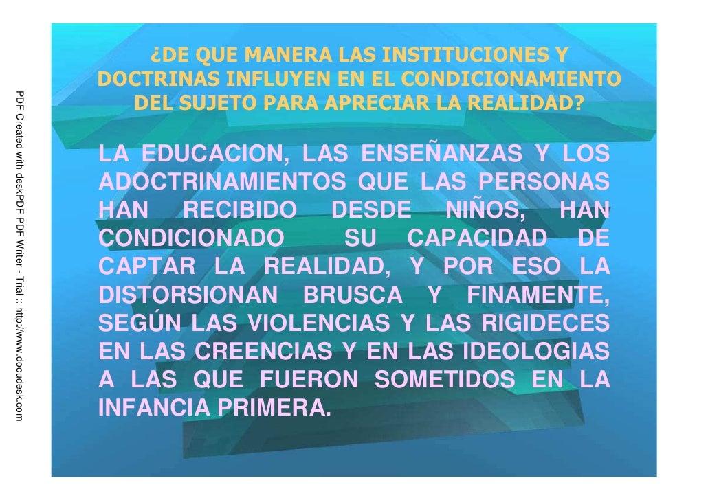 ¿DE QUE MANERA LAS INSTITUCIONES Y                                                                         DOCTRINAS INFLU...