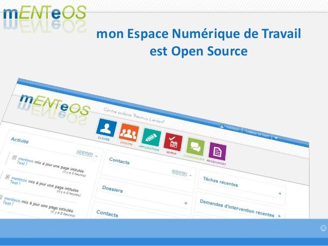 mon Espace Numérique de Travail est Open Source