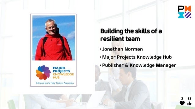 Building the skills of a resilient team - Jonathan Norman