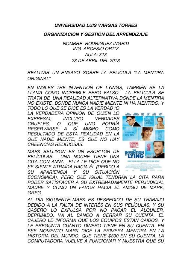 UNIVERSIDAD LUIS VARGAS TORRESORGANIZACIÓN Y GESTION DEL APRENDIZAJENOMBRE: RODRIGUEZ INGRIDING. ARCESIO ORTIZAULA: 31323 ...