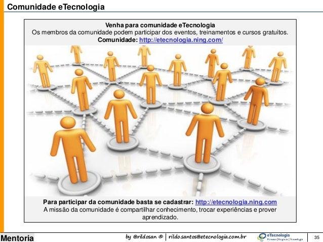 by @rildosan ® | rildo.santos@etecnologia.com.br Mentoria Comunidade eTecnologia Venha para comunidade eTecnologia Os memb...