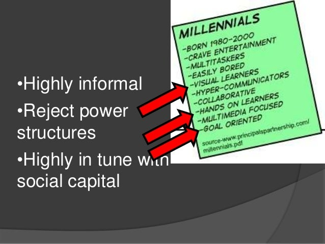 •Highly informal•Reject powerstructures•Highly in tune withsocial capital