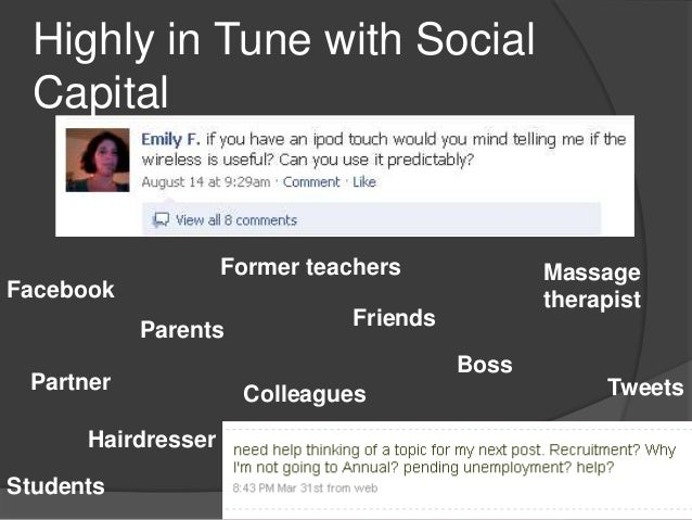 Highly in Tune with Social  Capital                    Former teachers             MassageFacebook                        ...