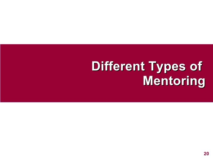 Different Types of  Mentoring