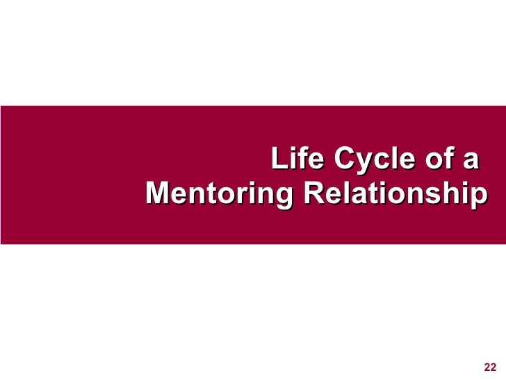 Life Cycle of a  Mentoring Relationship