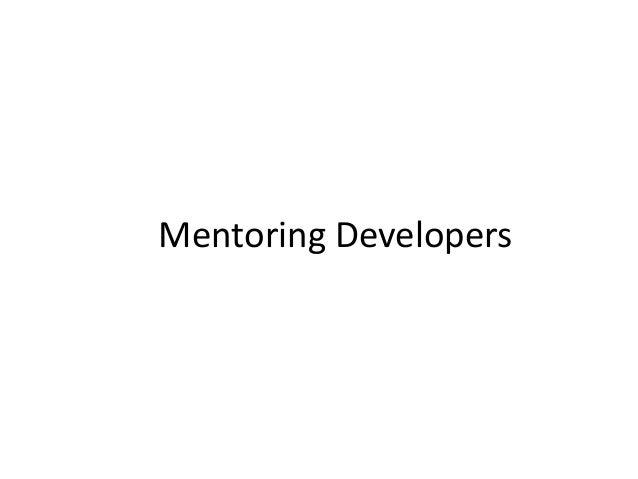 Mentoring Developers