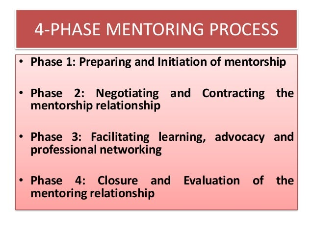 value of evaluation in a mentor and mentee relationship