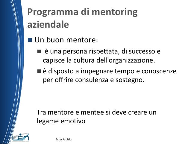 Dating mentore
