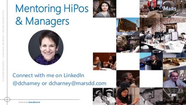DEVELOPINGTALENT•GROWINGVENTURES•OPENINGMARKETS Visitusat marsdd.com Connect with me on LinkedIn @dcharney or dcharney@mar...