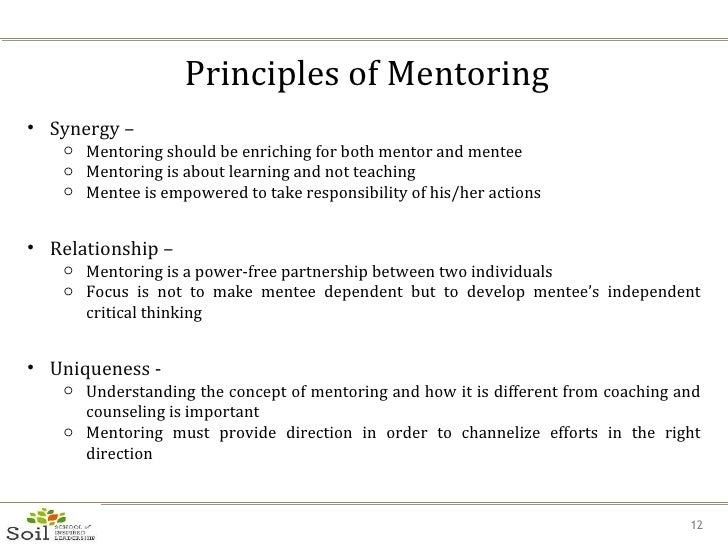 mentee and mentor definition relationship