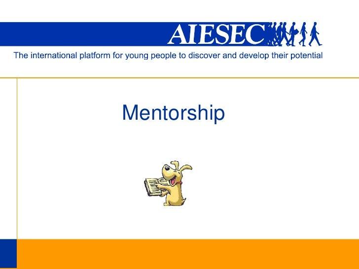 Mentorship<br />