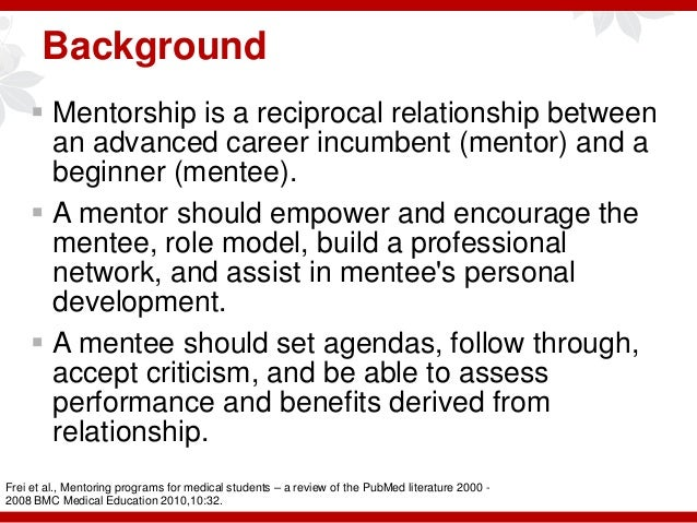 the relationship between structure mentoring programs Relationship between mentor and mentee can benefit their business (allen   mentoring programmes in three south african organisations the purposeful   change in terms of culture, strategy, organisational structures  provide support  and.