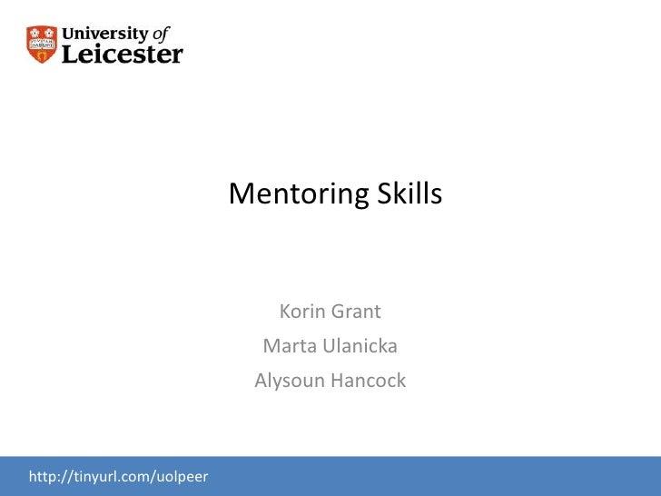 Mentoring Skills                                Korin Grant                               Marta Ulanicka                  ...
