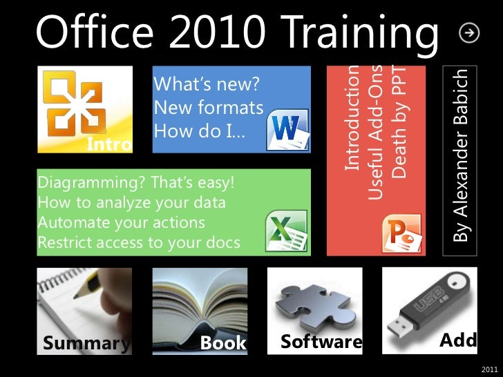 Office 2010 Training                                      Death by PPT                                       Introduction ...