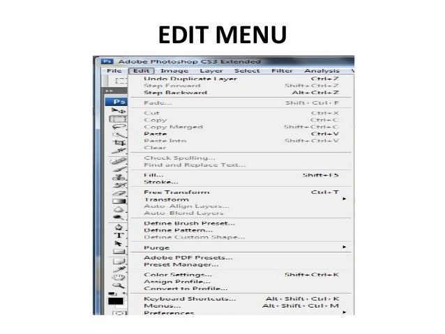 Adobe Photoshop: Menu Bar