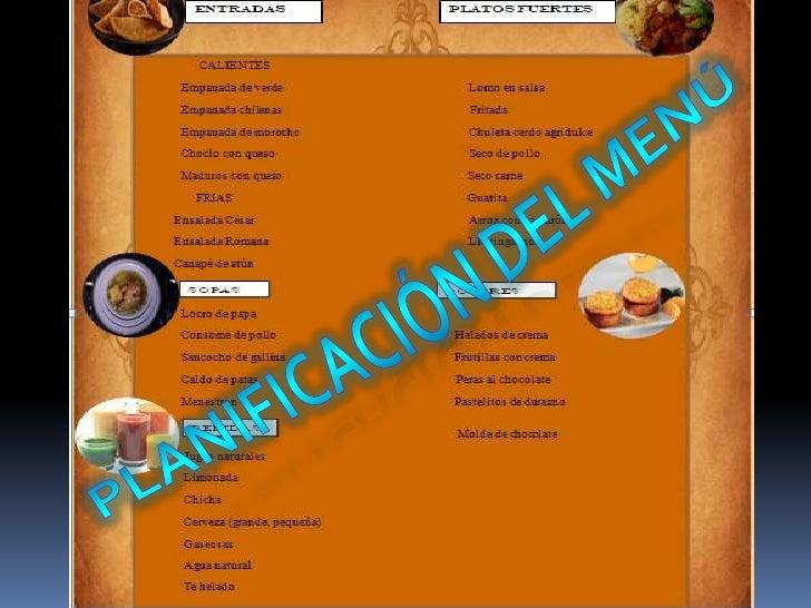 Menu carta for Formatos y controles para restaurantes gratis