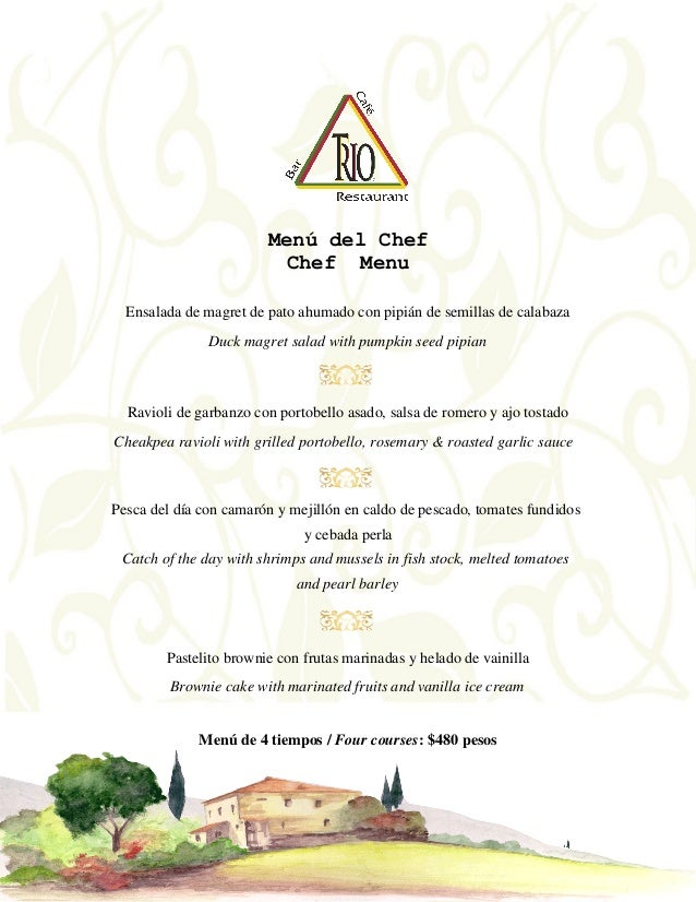 Menú del Chef Chef Menu Ensalada de magret de pato ahumado con pipián de semillas de calabaza Duck magret salad with pumpk...