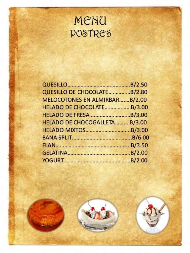 Cafe N Te Menu