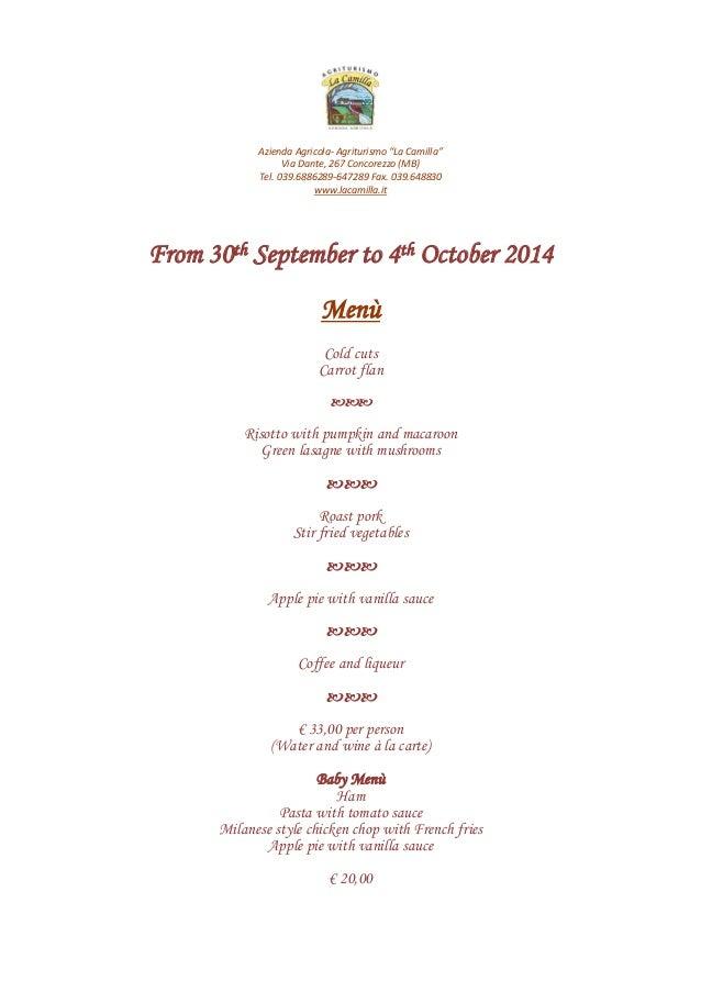 menu ferragosto 2014 inglese