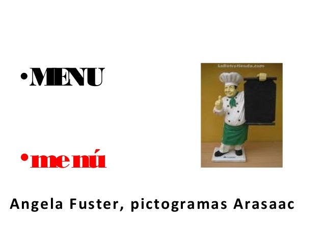 •MENU•menúAngela Fuster, pictogramas Arasaac