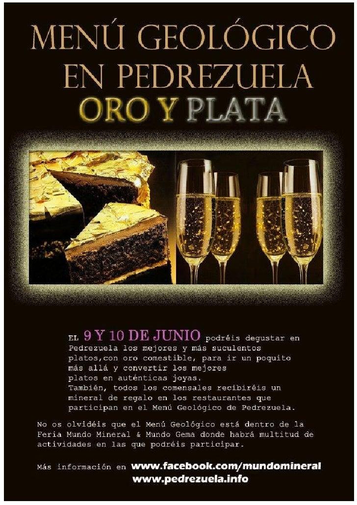 Menu Geologico- 9 y 10 de junio en  Pedrezuela