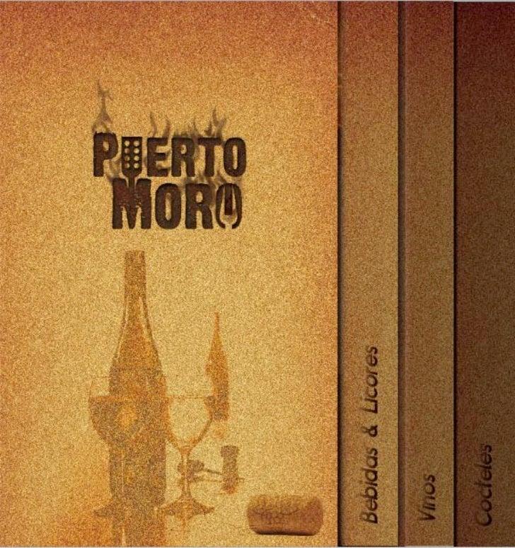 Menu de Licores Puerto Moro - @agenciavertice