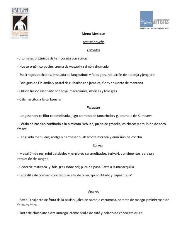 Menu Mexique Amuse bouche Entradas - Jitomates orgánicos de temporada con sumac - Huevo orgánico poche, crema de wasabi y ...