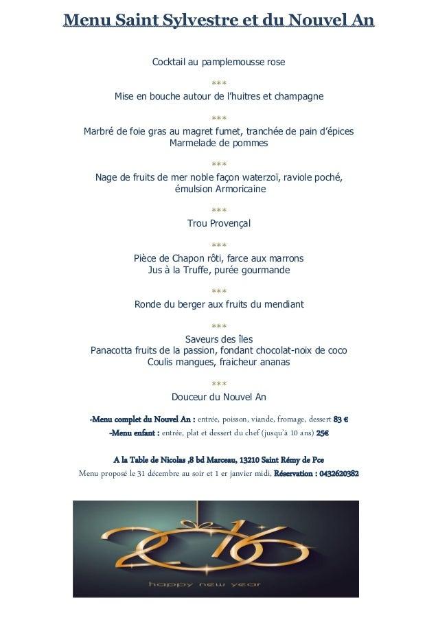 Saint sylvestre et nouvel an 2016 a la table de nicolas for Deco de table reveillon st sylvestre