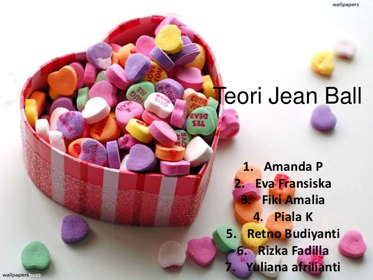 Teori Jean Ball    1. Amanda P   2. Eva Fransiska    3. Fiki Amalia      4. Piala K 5. Retno Budiyanti   6. Rizka Fadilla ...