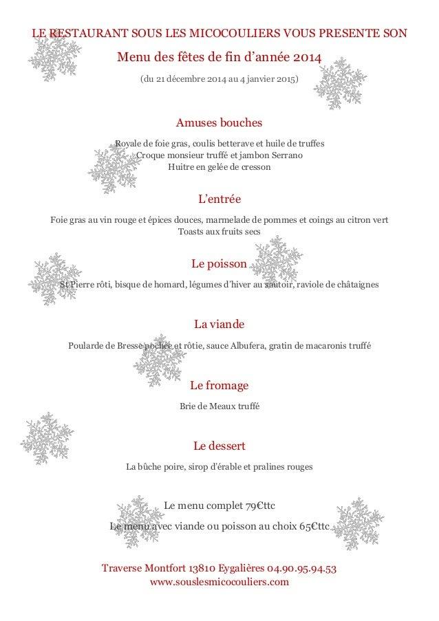 Provence Restaurant Menu