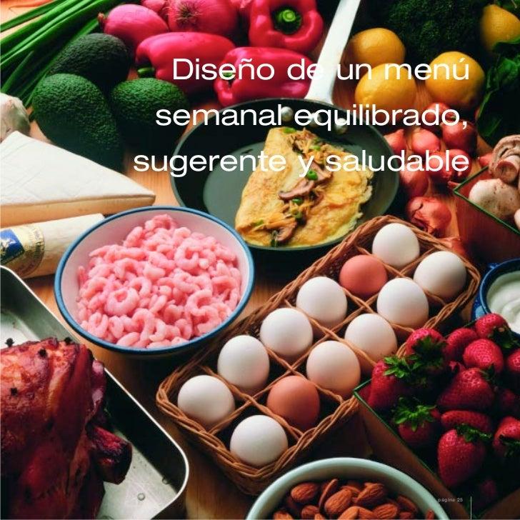 Diseño de un menú semanal equilibrado,sugerente y saludable                   página 25